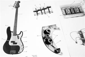 FenderDataSheetsForBasses fender vintage '57 precision bass (190115), 1982, parts list 57' strat wiring diagram at suagrazia.org
