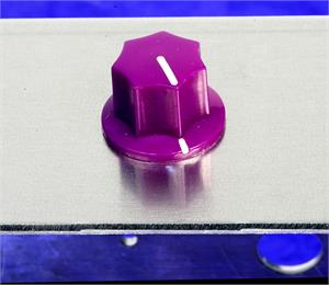 "Skirted Knob, .925"" Diameter For Effects, Amps, Studio Gear And More, Purple"
