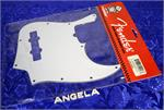 Fender Pickguard, Standard Jazz Bass, White, 3-Ply