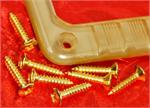 Gretsch Pickup Ring Bezel Mounting Screws, Gold