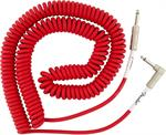 Fender Original Series Fiesta Red Coiled Cable 30' Angle & Straight Plugs